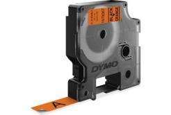 Dymo D1 1978367, 12mm x 3m, fekete nyomtatás / narancs alapon, eredeti szalag