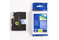 Brother TZ-535 / TZe-535, 12mm x 8m, fehér nyomtatás / kék alapon, eredeti szalag