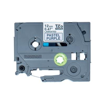 Brother TZ-MQF31 / TZE-MQF31, 12mm x 4m, fekete nyomtatás / bíbor alapon, eredeti szalag