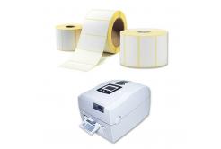 Öntapadós címkék 25x50 mm, 1000 db, thermo, tekercs