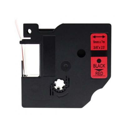 Dymo 40917, S0720720, 9mm x 7m fekete nyomtatás / piros alapon, kompatibilis szalag