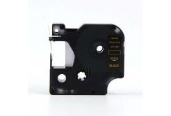 Dymo 40924, 9mm x 7m arany nyomtatás / fekete alapon, kompatibilis szalag
