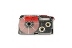 Casio XR-9FRD , 9mm x 8m, fekete nyomtatás /fluoreszkáló piros alapon, utángyártott szalag