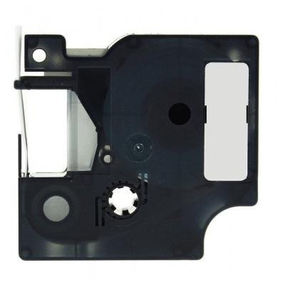 Dymo 18435, 12mm x 5, 5m fekete nyomtatás / narancs alapon, vinyl, kompatibilis szalag