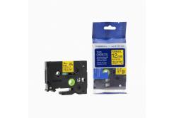 Brother TZ-FX631/TZe-FX631 12mm x 8m, flexi, fekete nyomtatás/sárga alapon, kompatibilis szalag