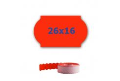 Cenové címkék do kleští, 26mm x 16mm, 700 db, signální piros