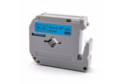 Brother MK-531, 12mm x 8m, fekete nyomtatás / kék alapon, kompatibilis szalag