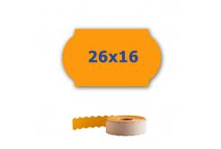 Cenové címkék do kleští, 26mm x 16mm, 700 db, signální oranžové