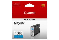 Canon eredeti tintapatron PGI-1500 C, cyan, 300 oldal, 4.5ml, 9229B001, Canon MAXIFY MB2050,MB2150,MB2155,MB2350,MB2750,MB2755