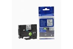 Brother TZ-221 / TZe-221, 9mm x 8m, fekete nyomtatás / fehér alapon, kompatibilis szalag