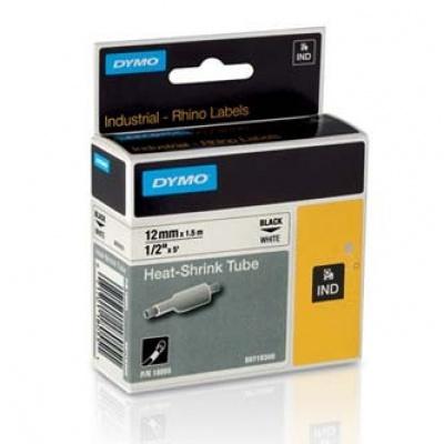 Dymo Rhino 18055, S0718300, 12mm x 1,5m fekete nyomtatás / fehér alapon, eredeti szalag