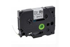 Brother HSe-211 5,8mm x 1,5m, fekete nyomtatás / fehér alapon, kompatibilis szalag