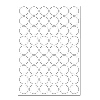 Öntapadós címkék 30 x 30 mm, 54 db / A4, 100 lap
