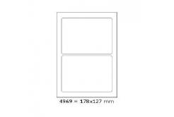 Öntapadós címkék 178 x 127 mm, 2 db / A4, 100 lap