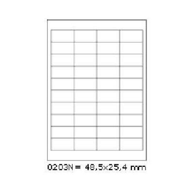 Öntapadós címkék 48,5 x 25,4 mm, 40 db / A4, 100 lap