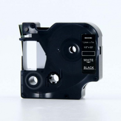 Dymo 45811, 19mm x 7m fehér nyomtatás / fekete alapon, kompatibilis szalag