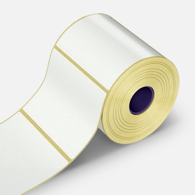 Öntapadós PP (polypropylen) címkék, 70x30mm, 1000 db, TTR, fehér, tekercs