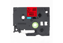 Brother TZ-FX441 / TZe-FX441,18mm x 8m, flexi, fekete nyomtatás / piros alapon, kompatibilis szalag